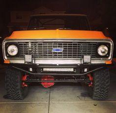First Gen Blazer with LED lights. Chevy Blazer K5, K5 Blazer, C10 Trucks, Lifted Trucks, Troy, Jeeps, Girly Things, Cool Cars, Mustard
