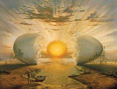 "Dali ""Jaune d'oeuf soleil"" #art #tableau #surrealiste"