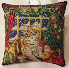 Cat Christmas Gift / Cat Fabric Lavender Bag / Kitten Gift / Stocking Filler