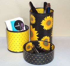 Hey, I found this really awesome Etsy listing at https://www.etsy.com/listing/186699155/sunflower-desk-accessories-pencil-holder