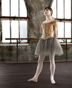 Tiler Peck in costume as Edgar Degas muse Marie van Goethem for the new musical Little Dancer. Photo: Matthew Karas, courtesy the Kennedy Center, Washington, DC.
