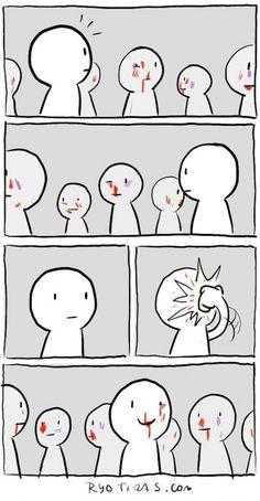 Todos tentam ficar igual aos outros