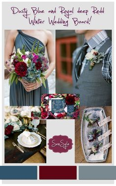Wedding Colors Winter Burgundy Dusty Blue Ideas For 2019 2020 - wedding colorado wedding colors wedding colors and themes - Burgundy And Grey Wedding, Dark Grey Weddings, Deep Red Wedding, Dusty Blue Weddings, Winter Maternity Outfits, Winter Outfits Women, Short Wedding Gowns, Wedding Dress, Cranberry Wedding