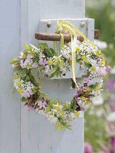 coração coroa de flores ...