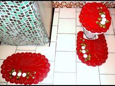 Jogo de banheiro em crochê: Capa para tampa do vaso #Parte1 - YouTube