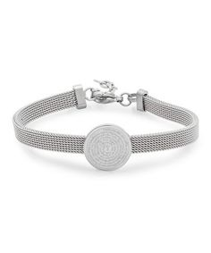 This Stainless Steel Padre Nuestro Prayer Mesh Bracelet by HMY Jewelry is perfect! #zulilyfinds