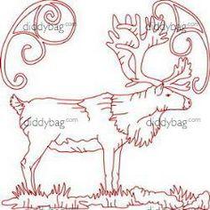 Diddybag Set 11729 - Semi Exc Realistic Reindeer