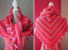 Crochet Shawl | Gehaakte omslagdoek  http://dehaakzolder.blogspot.nl/2014/05/explosion.html