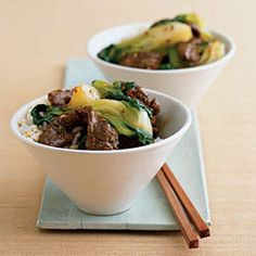 This quick beef stir-fry takes 15 minutes. #recipes #beef
