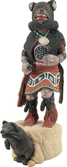 Art Collector: 7 Sculptures - Native American Wooden Kachina Dolls, Alabastor & Bronze Sculpture