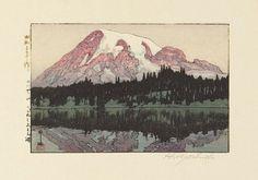 「れにや山 りふれく志よん湖」Reflection Lake - 昭和3(1928)年