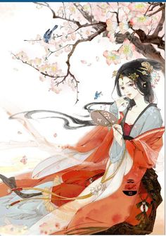 painting of ancient Chinese beauty