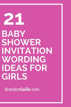 baby shower invitation wording ideas for girls baby shower invitation