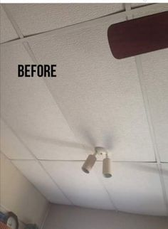 update your drop ceiling, home maintenance repairs, wall decor