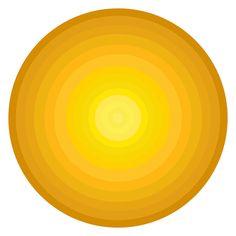 Yellow Painting - Yellow Circles by Frank Tschakert