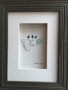6 von 8 Kiesel Kunst von Sharon Nowlan mit Seaglass Wäsche