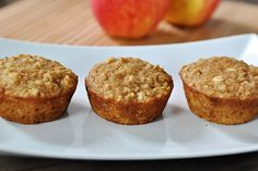 Healthy Oats and Applesauce Muffins- these were really good. used 1/2 pumpkin 1/2 applesauce, butter, white whole wheat flour, scant 1/3 cup sugar 1/4 cup chocolate chips. baked 8x8 dish about 25-30 minutes toothpick clean