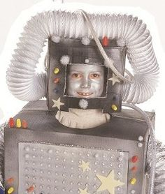 Get the kids involved in making homemade Halloween costumes. The Rad Robot Costume can be made from items you find around the house, which makes it totally affordable. Elementary-aged boys will love this Halloween costume idea.