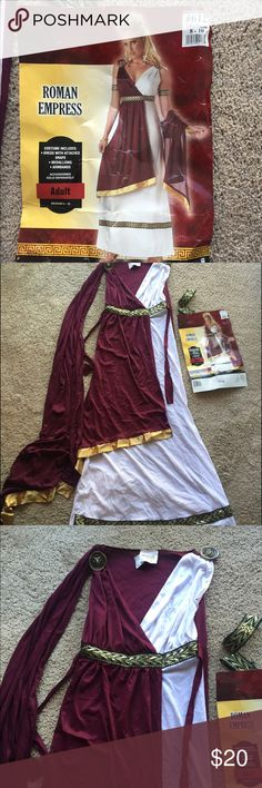 Roman goddess costume size 8-10 Cute Roman Goddess costume, one medallion needs to be sewn on, size 8-10, smoke free home Other