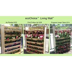 New Age Garden 33.1 in. W x 8.3 in. D x 45.3 in. H Resin Living Wall Vertical Garden Planter-EPVP001-W32H45 - The Home Depot