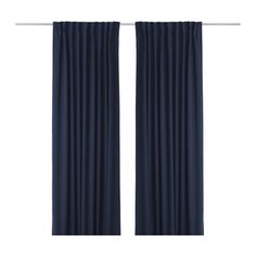 "WERNA Pair of curtains IKEA Densely-woven fabric makes the curtain effective at blocking out light. $49.99 AND is 118"" long"