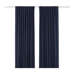 IKEA - WERNA, Verduisteringsgordijn, 1 paar, , De gordijnen sluiten het meeste licht buiten en zorgen voor privacy omdat ze inkijk tegengaan.Effectief tegen tocht in de winter en warmte in de zomer.De gordijnen kunnen aan een gordijnroede of aan een gordijnrail gehangen worden.Met het plooiband kan je eenvoudig plooien maken. Te completeren met de RIKTIG gordijnhaken.Door de blinde lussen kan je het gordijn direct aan een gordijnroede hangen, maar je kan ook ringen en haken gebruiken.