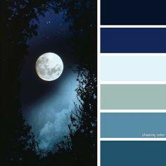 Color palette for Waylin Color Schemes Colour Palettes, Colour Pallette, Color Palate, Color Combos, Colour Match, Night Sky Painting, Color Psychology, Paint Colors For Home, Colour Board