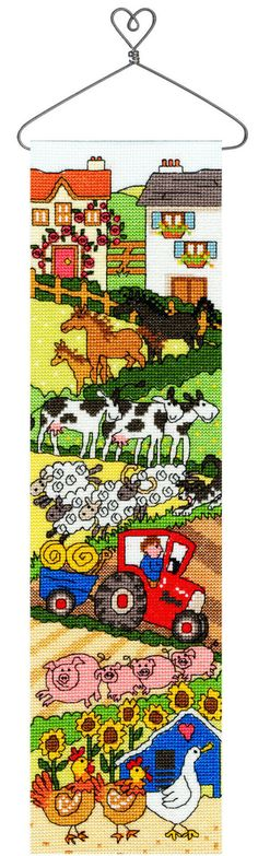 Farm Hang Up cross stitch kit by Bothy Threads