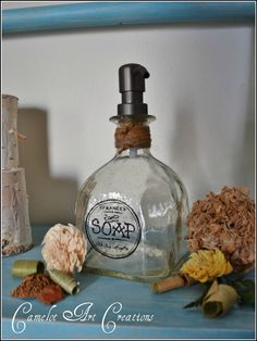 Up-Cycled Soap Dispensers { Patron Bottles }