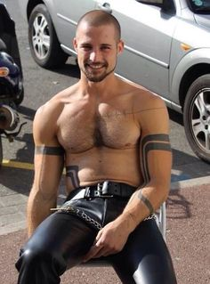 In leatherpants men hot