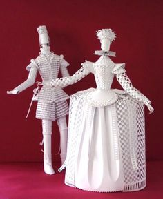 Historical costumes made from paper