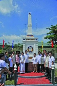 Celebrations for the 250th Anniversary of the founding of Villa de Bacolor was highlighted with the rebuilding of the Anda Obelisk which was first built in 1853 to commemorate Governor General Simon Anda y Salazar. Anda successfully rallied Pampangueños against British-occupied Manila during the Seven Years War. The Colonial Capital was temporarily moved to Villa de Bacolor at the time. Villa de Bacolor also originally served as the Regional Capital of Pampanga until 1904