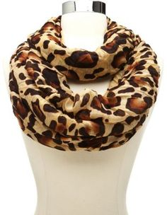 Outfit No. 1 - woven leopard print infinity scarf