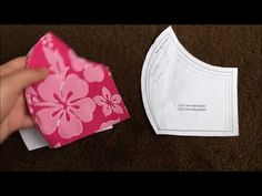 How to Make DIY Mouth Mask with filter insert. Make a face mask in just few simple steps Diy Mask, Diy Face Mask, Face Masks, Pocket Pattern, Free Pattern, Mouth Mask Fashion, Asmr, Sewing Patterns, Hand Sewing