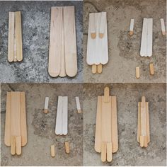 Diese beiden Engel habe ich aus Holzstäbchen gebastelt. Wie? Das zeige ich hier:      Meine Materialliste:  RAYHER - 6121731 - Bastelhöl...