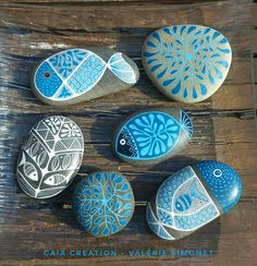 Stone Art Painting, Pebble Painting, Dot Painting, Pebble Art, Rock Painting Patterns, Rock Painting Ideas Easy, Rock Painting Designs, Stone Crafts, Rock Crafts