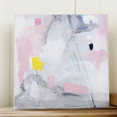 Original Abstract Painting Acrylic on Canvas Pink by LisaBarbero