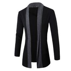 2019 Fashion Jacket Spring&Autumn Plus Size wrap coat Fashion Stylish Men Fashion Cardigan Jacket Slim Long Sleeve Casual Coat. Product ID: Cardigan Fashion, Knit Fashion, Fashion Outfits, Style Fashion, Fashion Men, Fashion Shirts, Fashion Blogs, Fashion Brand, Long Sweater Coat
