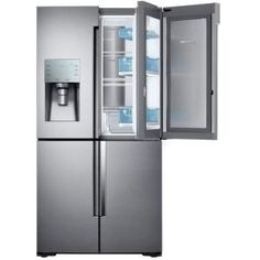 Samsung 22.1 Cu. Ft. 4 Door Flex Food Showcase French Door Refrigerator In  Stainless Steel, Counter Depth