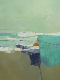 "Jenny Nelson - Three Days by the Sea 1, 48"" x 36"", oil on canvas"
