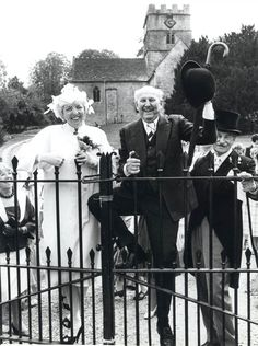Thelma Schoonmaker and Michael Powell on their wedding day in 1984.