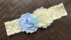 North Carolina Tar Heels Wedding Garter North by SportsGarterShop