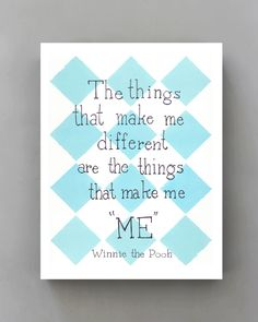 Disney Movie Poster Winnie the Pooh Quote, Nursery Art Print, Kids Wall Art, Typographic Print Blue Pink Checkers via Etsy Disney Movie Posters, Disney Movies, Cute Quotes, Words Quotes, Sayings, Winnie The Pooh Quotes, Art Wall Kids, Wall Art, Disney Quotes