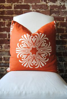 Breckenridge in Orange by Duralee  Pillow 20x20 by MarthaAndAsh
