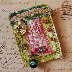 Image result for brooches out of buttons and scraps