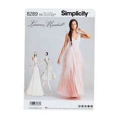 Simplicity Pattern 8289 Misses Special Occasion Dresses: Whether you're the bride, bridesmaid or attendee, these Leanne Marshall special occasion dresses are. Pattern Books, Pattern Paper, Leanne Marshall, Simplicity Patterns, Dress Sewing Patterns, Special Occasion Dresses, Bridesmaid, Formal Dresses, Fabric