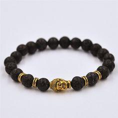 buddha braceletenergy braceletyoga braceletblack lava by YOUFEEL