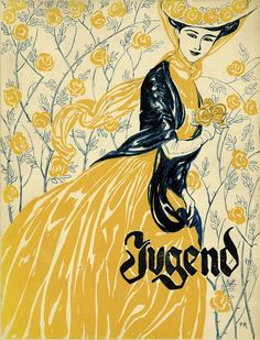 Jugend- This reminds me of Oma. Something she would have tried to draw...and would have found beautiful. It's so charming.