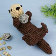 Sea Otter  by June Gilbank - $5.50 Crochet Pattern