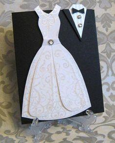 Quetal um convite de casamento para os noivos  de escrapbook